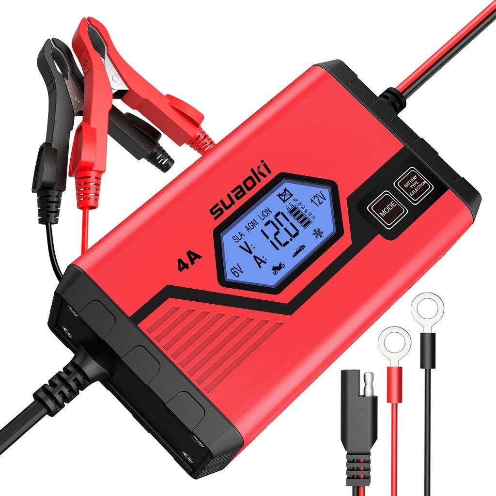 Suaoki Chargeur Batterie Voiture 4A 6/12V en Promo -40%