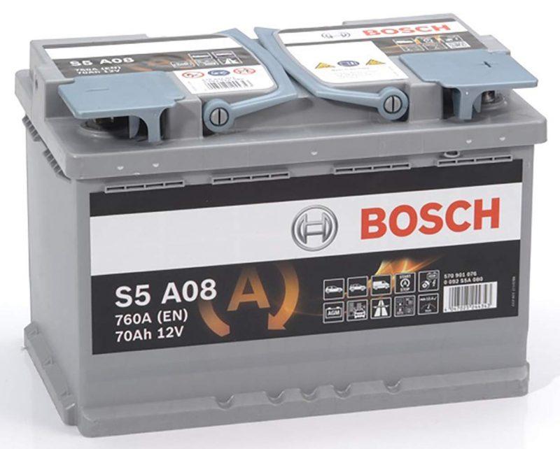 Batterie AGM Bosch S5A08 en Promo -41%