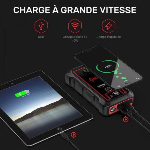 YABER Booster YR800 avec chargeur sans fil